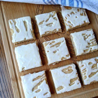 lemon cookie bars vegan