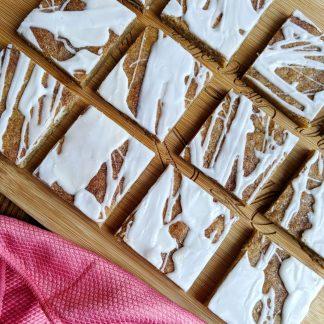 vegan snickerdoodle cookie bars