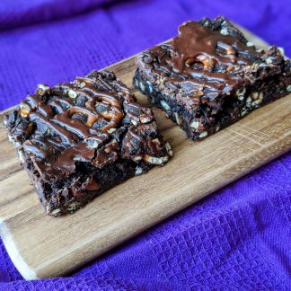 chocolate salted pretzel cookie bars vegan