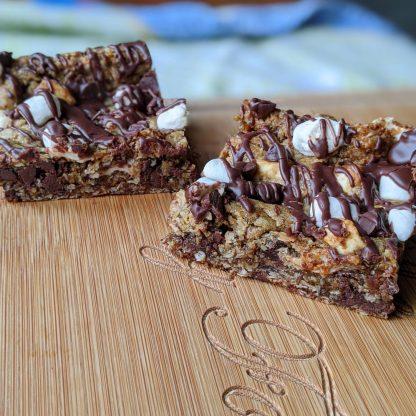 fluffernutter chip cookie bars