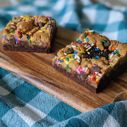 peanut butter brookie birthday bars